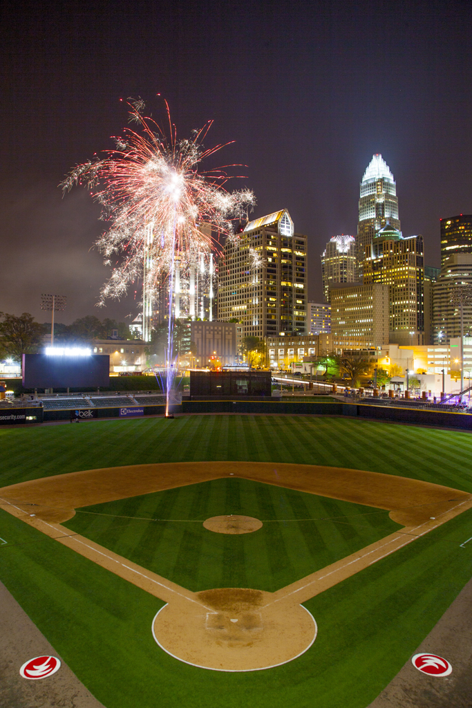 Charlotte Knights Play Opening Game At Bb Amp T Ballpark
