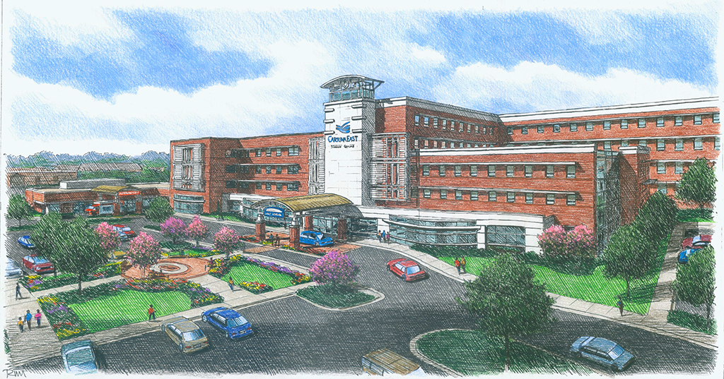 Construction begins for new 3 story tower at carolinaeast for Carolina plan room