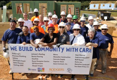 Rodgers' volunteers build LEED Platinum house for Habitat
